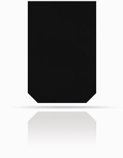 Dachplatte 60/40 Schwarz