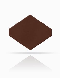 Rhombus-Schablone 40/44 Rotbraun