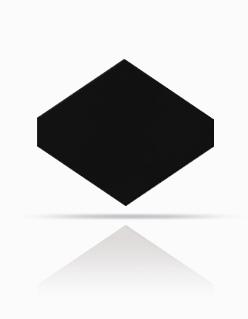 Rhombus-Schablone 40/44 Schwarz