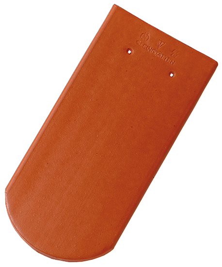 Biber Rundschnitt Engobe Rot